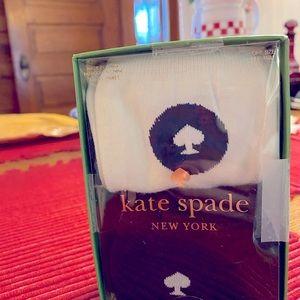 NEW Kate Spade ♠️ midi socks black and white